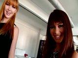 Dve luxusné ryšavé spoločníčky sa ponúkajú ako cundry - freevideo