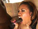 Čokoládka s megazadočkom si osedlá čierneho žrebca - freevideo