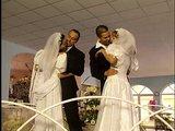 Dvojit� svadba skon�� dvojit�m striekan�m na tv�ri�ky - freevideo